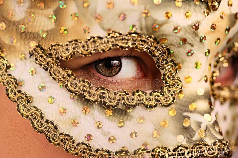 Femme dans le masque photos stock