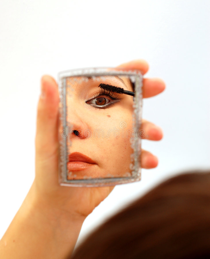 Femme dans le miroir #3 photo stock