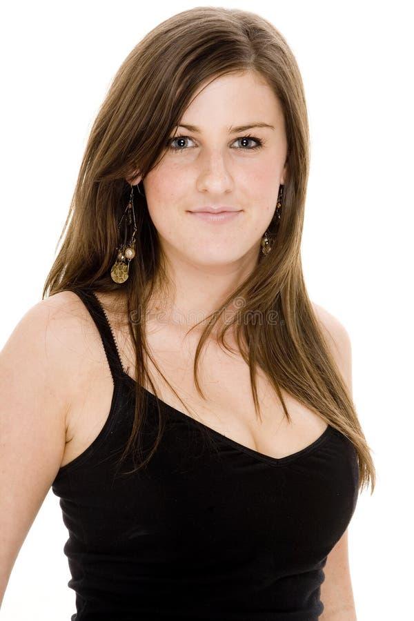 Download Femme dans le noir photo stock. Image du individuel, beauté - 741158