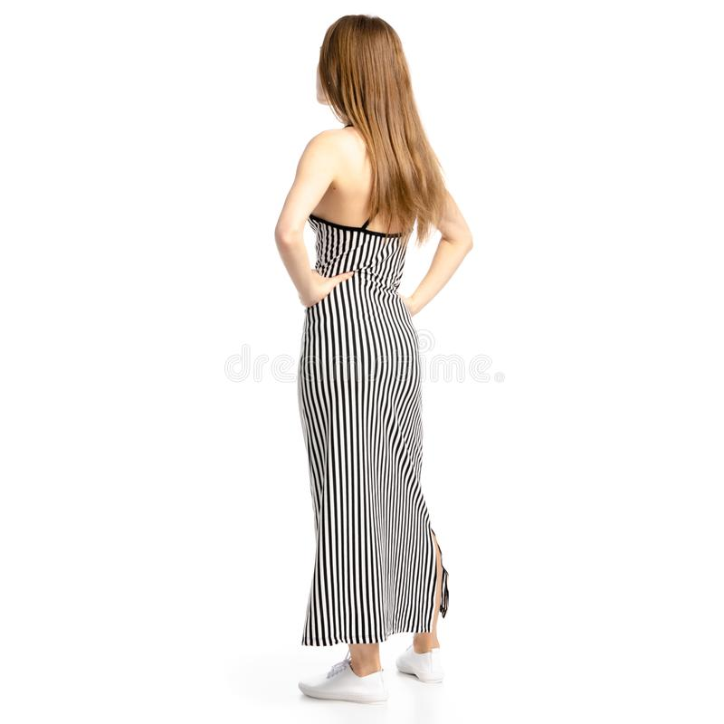 Femme dans le regard de robe images stock
