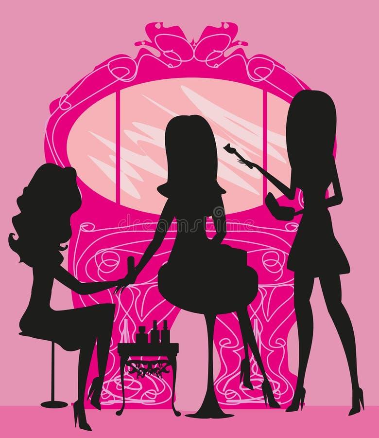 Femme dans le salon de beauté
