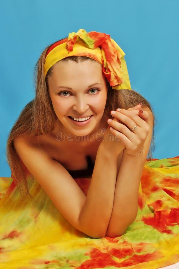 Femme dans le sarong 5 image libre de droits