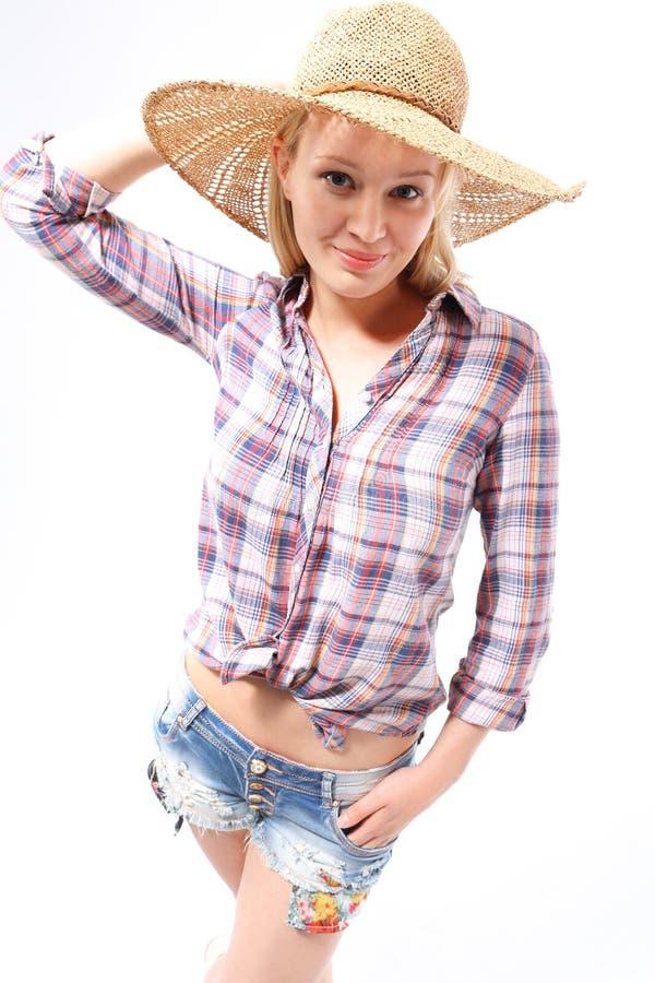 Femme dans un chapeau photo libre de droits
