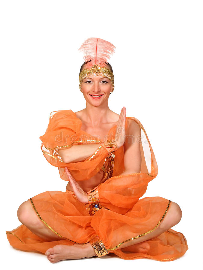 Femme dans un costume oriental traditionnel photo libre de droits