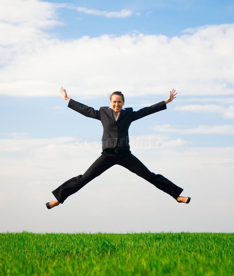 Femme dans une joyeuse humeur photo libre de droits