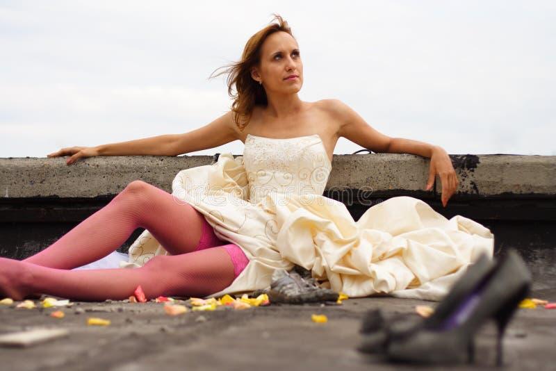 Femme dans une robe photos libres de droits