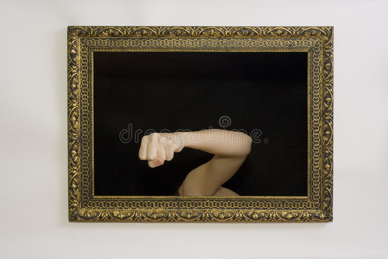 Femme dans une trame de peinture images stock