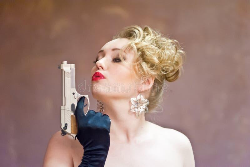 Femme de bandit image stock