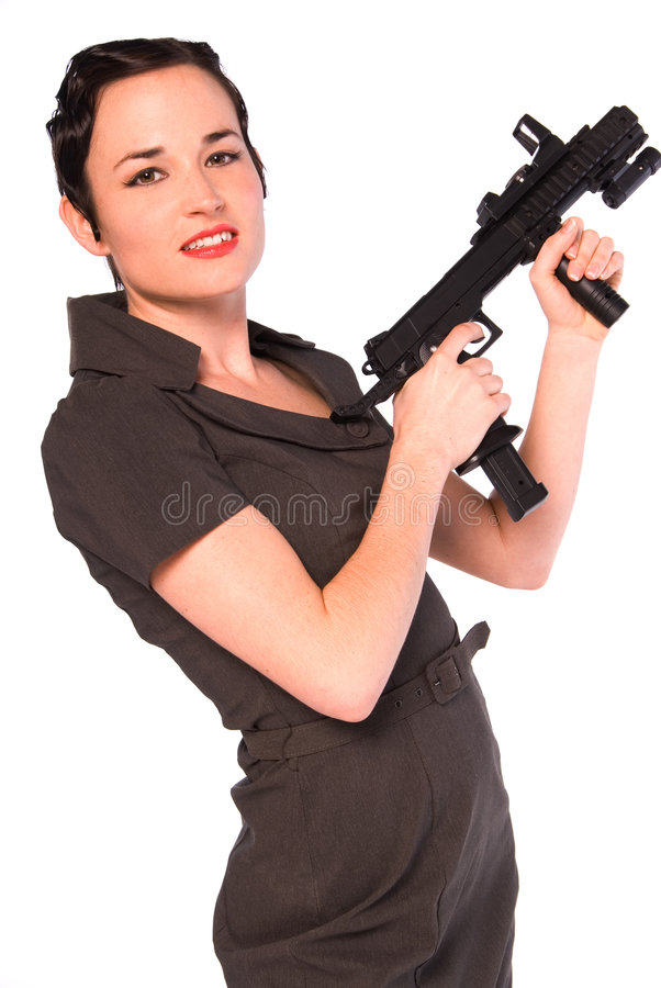 Femme de bandit. photographie stock libre de droits