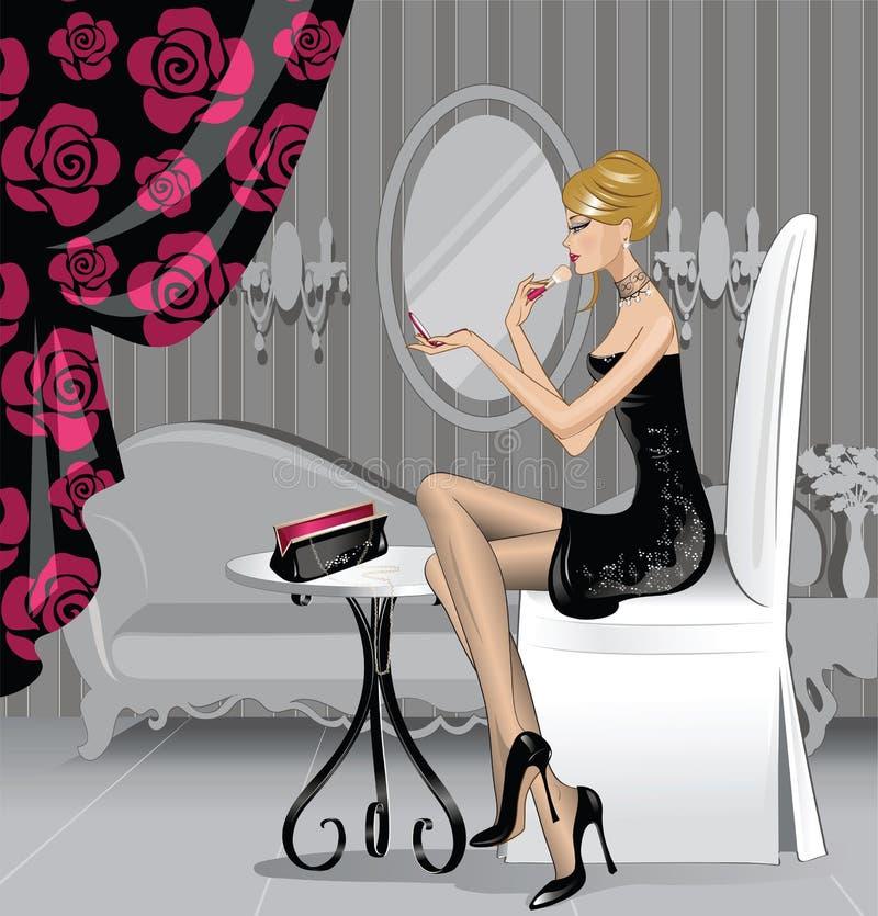 Femme de beauté illustration stock