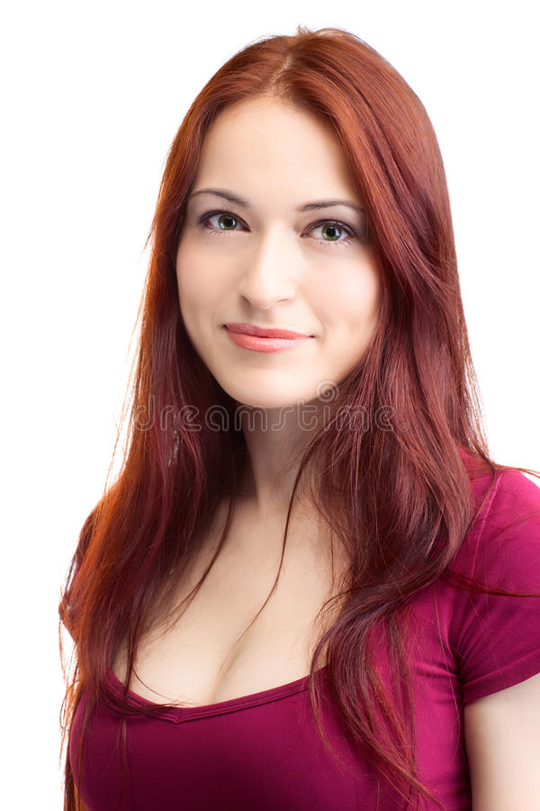 Femme de beauté avec le cheveu juste photos stock