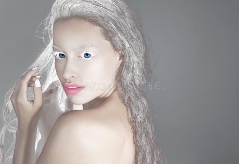 Femme de beauté d'imagination photo stock