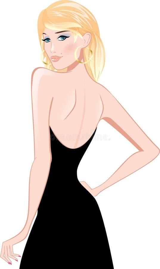 Femme de blonde de beauté illustration stock