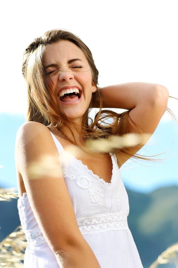 Femme de bonheur image stock