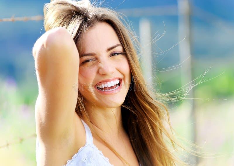 Femme de bonheur photos libres de droits