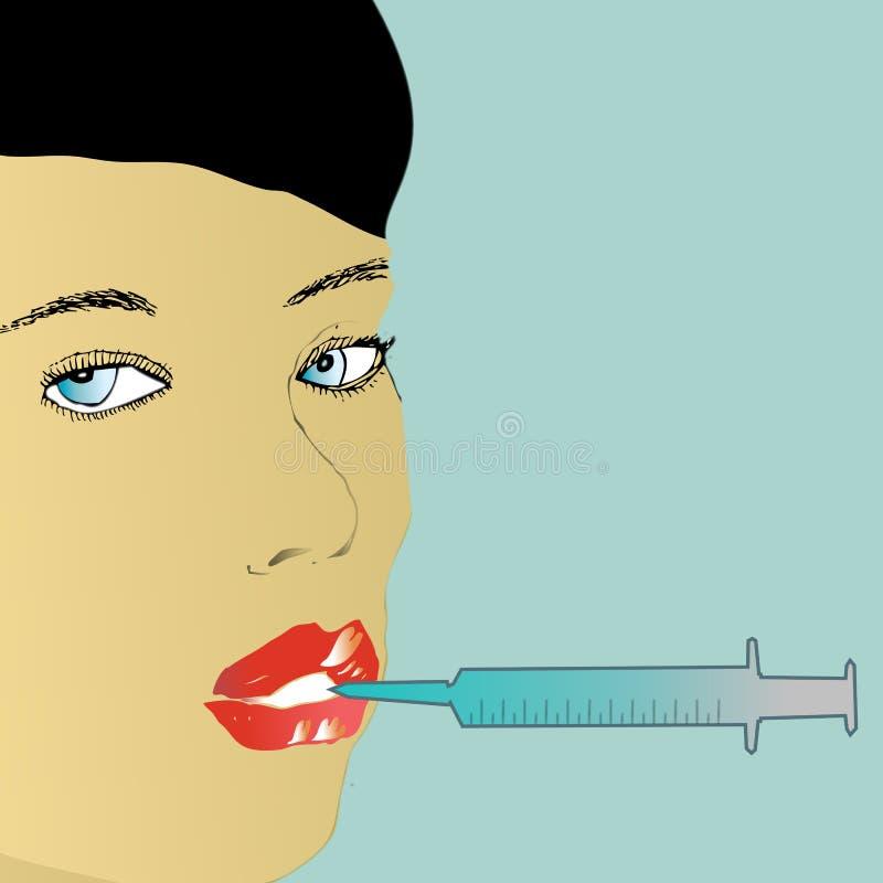 Femme de Botox illustration libre de droits