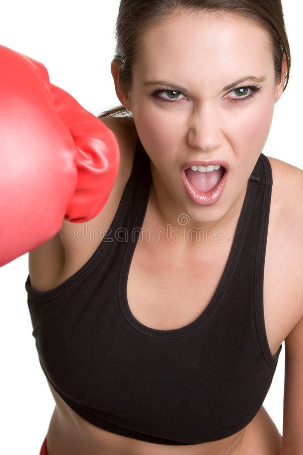 femme de boxe images libres de droits