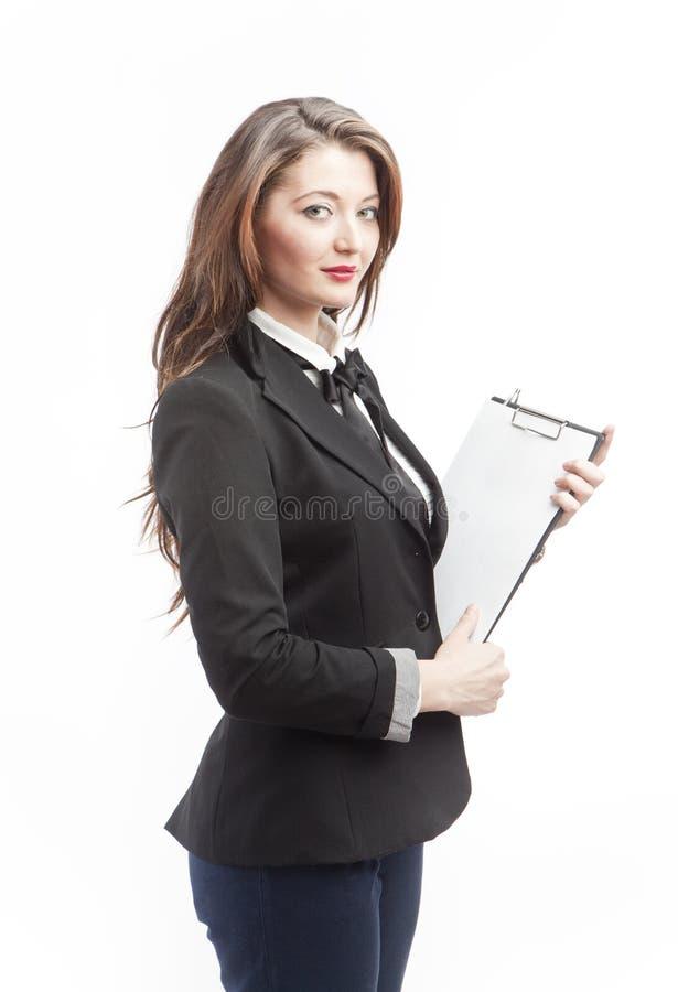 Femme de bureau d'isolement image stock