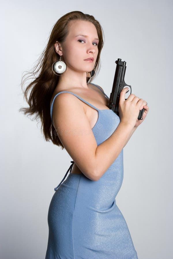 Femme de canon photographie stock libre de droits