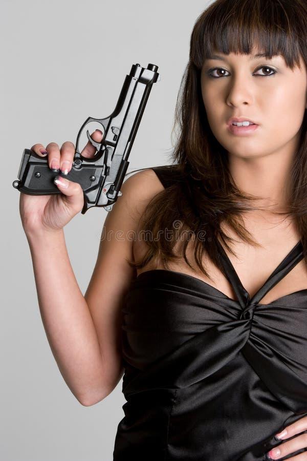 Femme de canon photo libre de droits