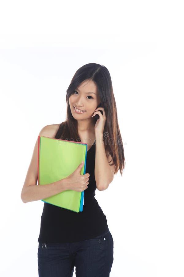 Femme de carrière asiatique illustration de vecteur