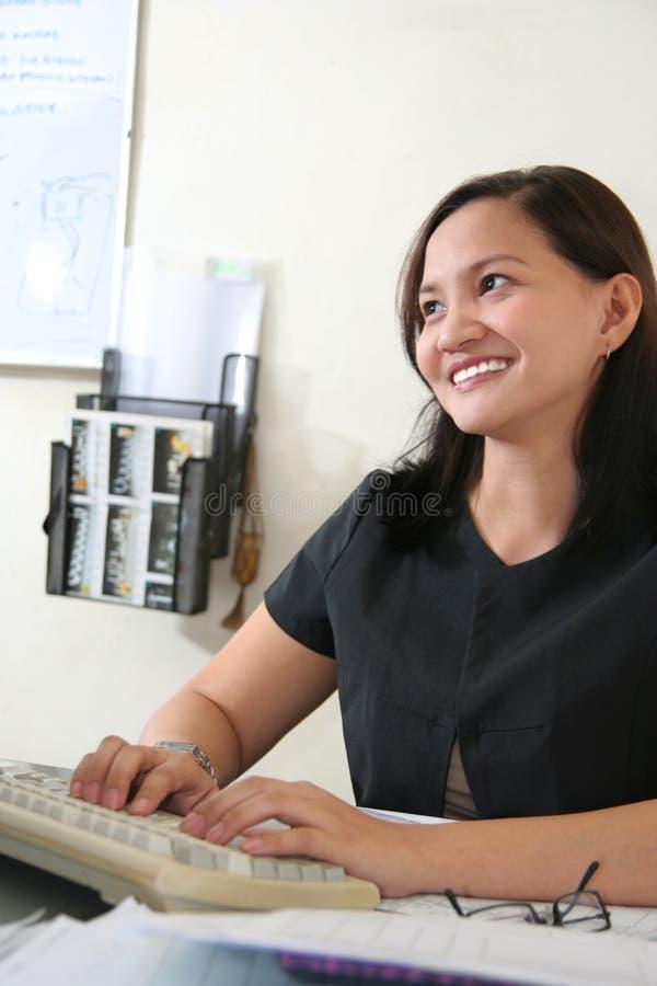 Femme de carrière heureuse photographie stock libre de droits