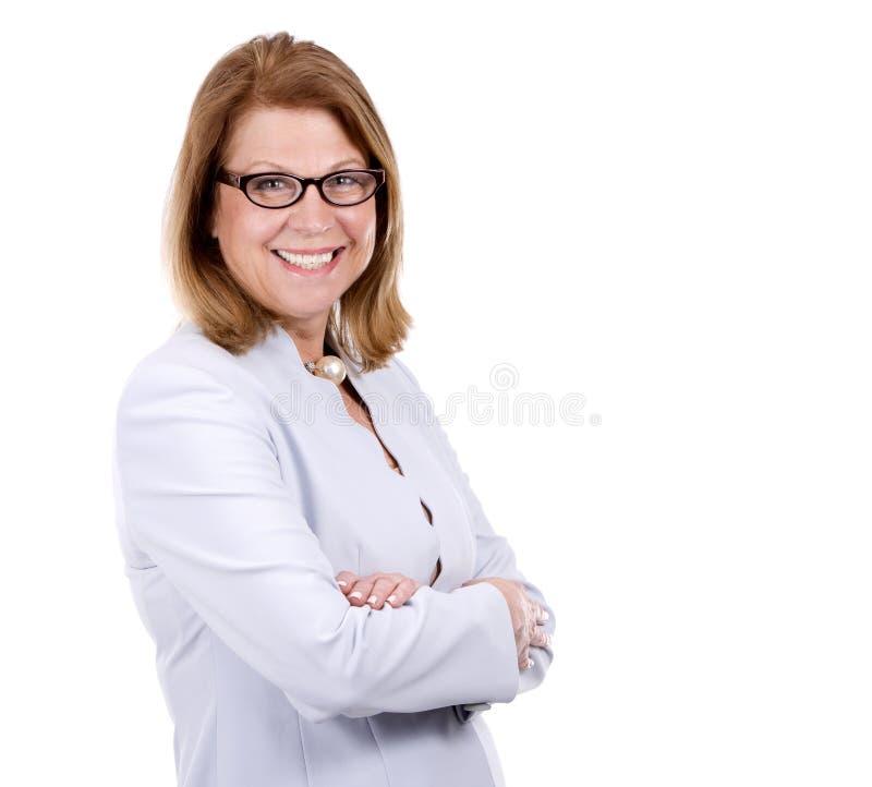 Femme de Caucasien d'affaires image stock