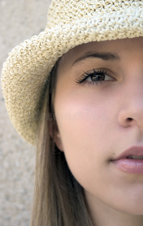 Femme de chapeau photo stock