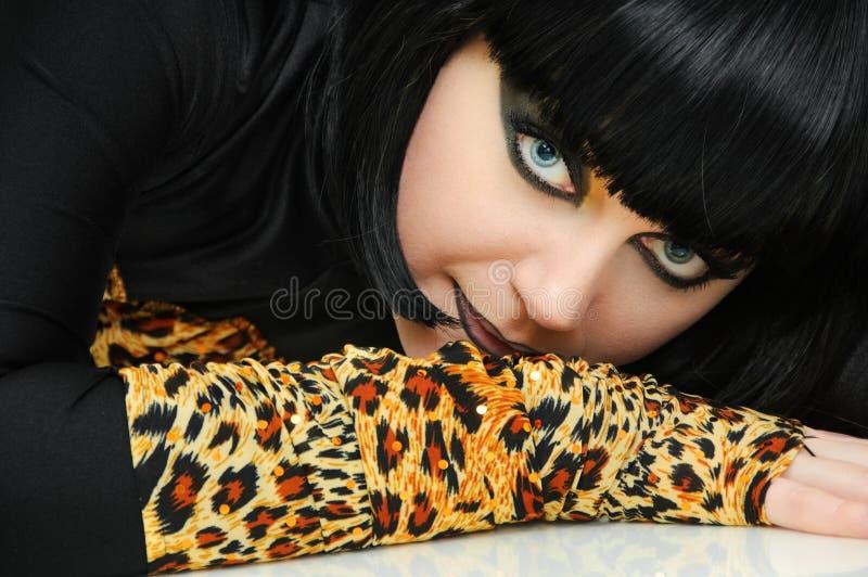 Femme de chat photos stock