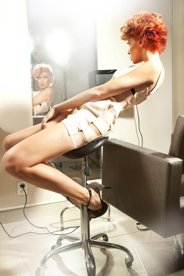 Femme de cheveu de gingembre image libre de droits