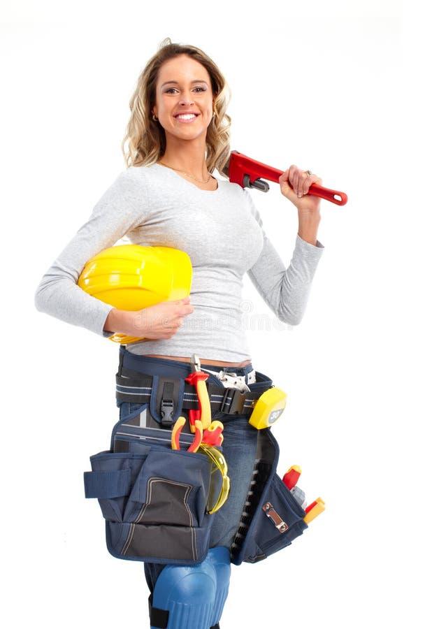 Femme de constructeur photographie stock