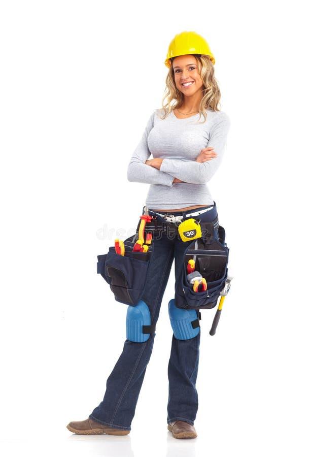 Femme de constructeur image stock