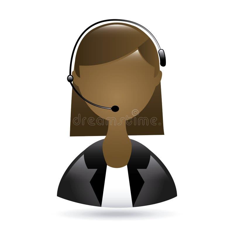 Femme de couleur de réceptionniste illustration de vecteur