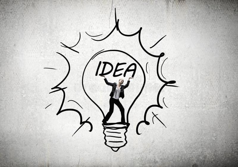 Download Femme de créativité photo stock. Image du innovation - 56480694