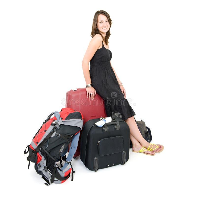 Femme de déplacement photographie stock