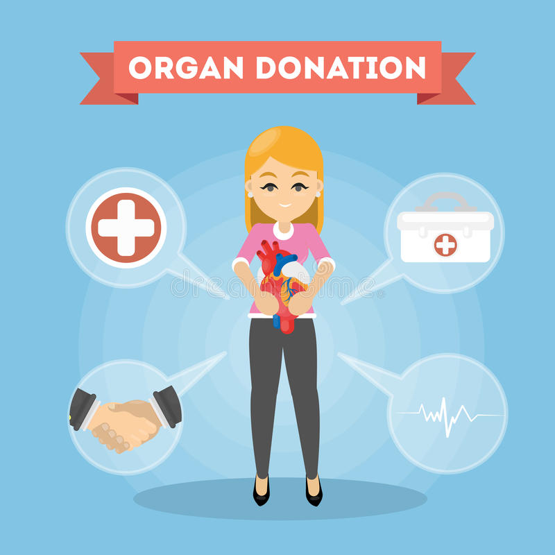 Femme de donation d'organe illustration libre de droits