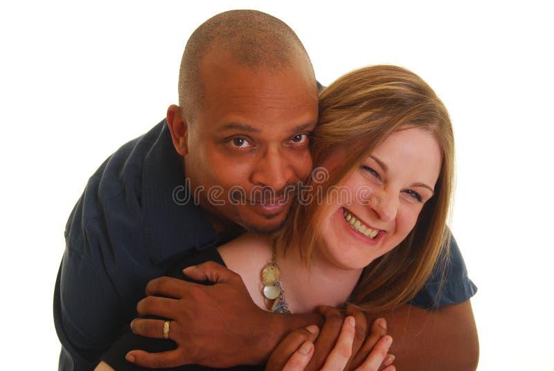Femme de fixation d'homme photos stock