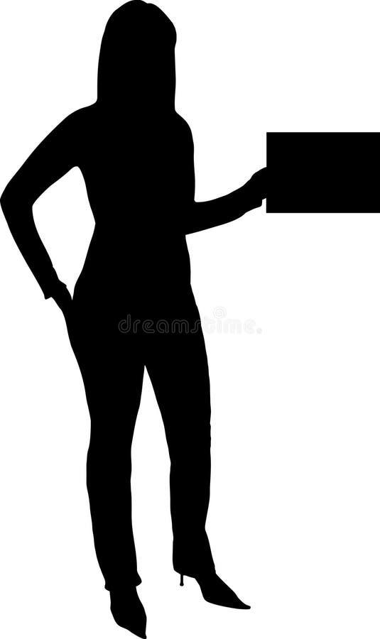femme de fixation de carte illustration de vecteur