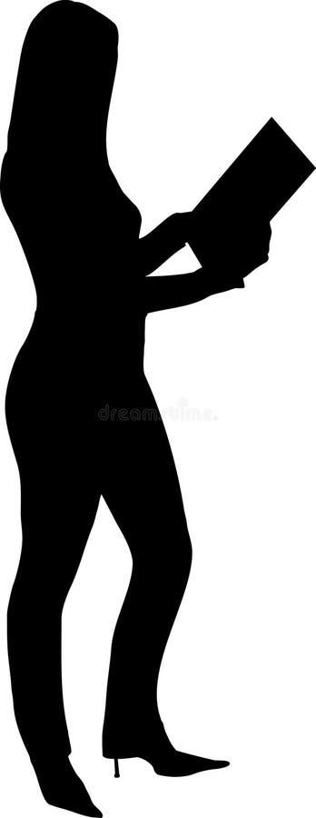 femme de fixation de carte illustration libre de droits