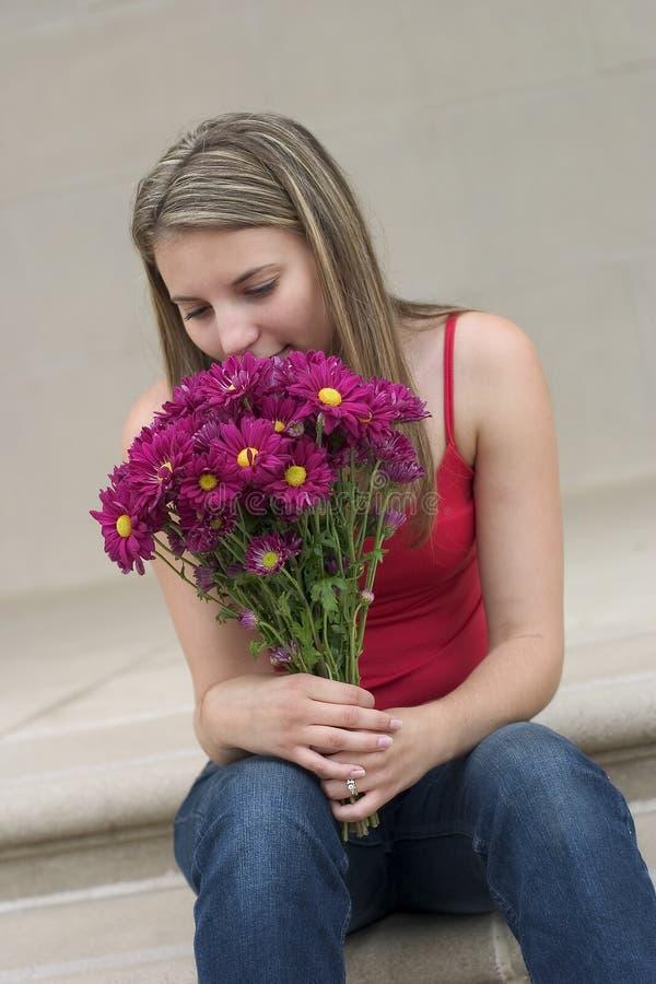 Femme de fleur photo libre de droits