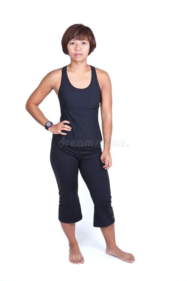 Femme de forme physique dans le vêtement de sports photo libre de droits