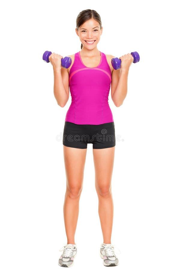 Femme de forme physique de sport image stock