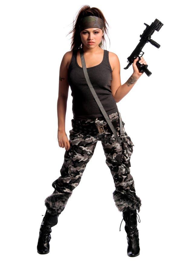 Femme de guerrier photo libre de droits