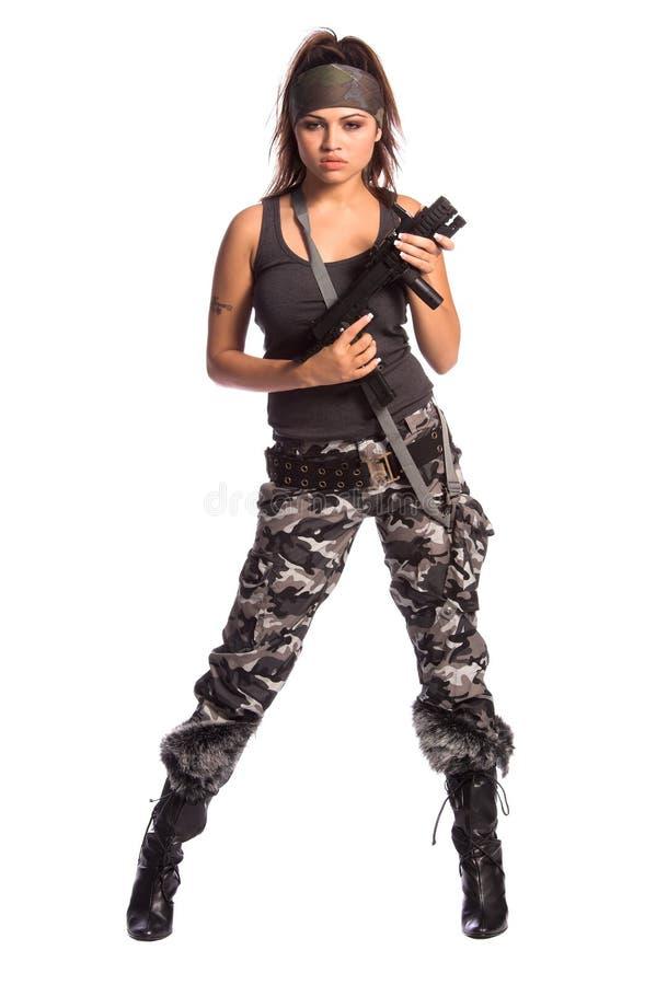 Femme de guerrier photographie stock libre de droits