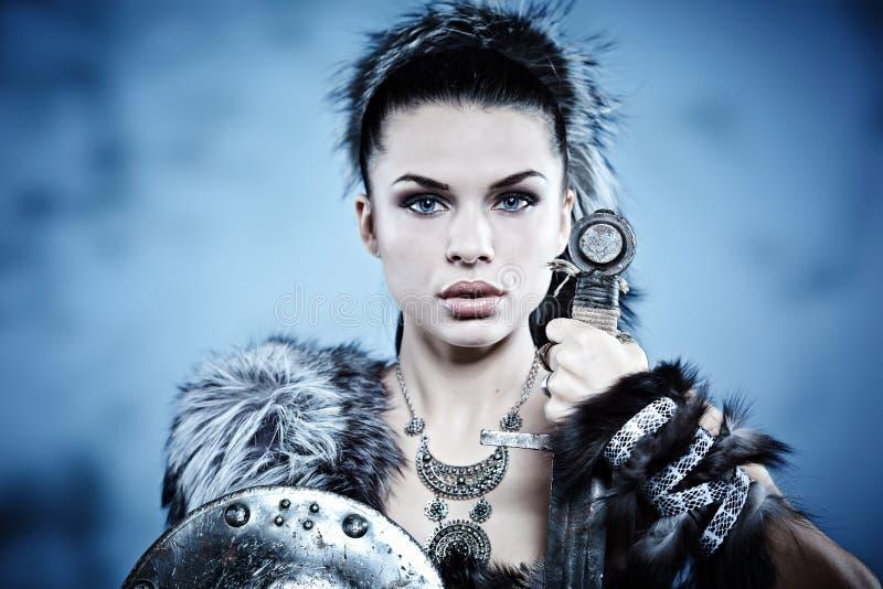 Femme de guerrier. images libres de droits