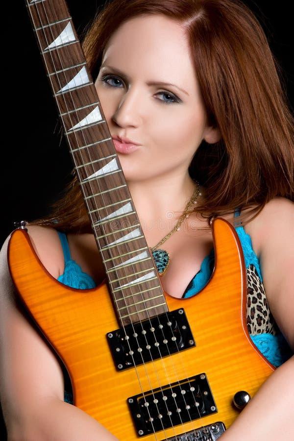femme de guitare électrique photo libre de droits