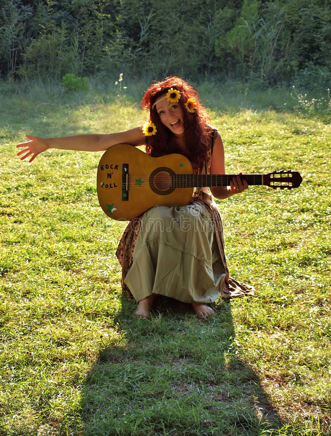 Femme de Hippie photographie stock libre de droits