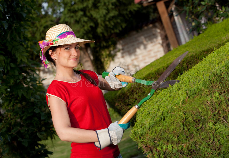 Femme de jardinier photos libres de droits