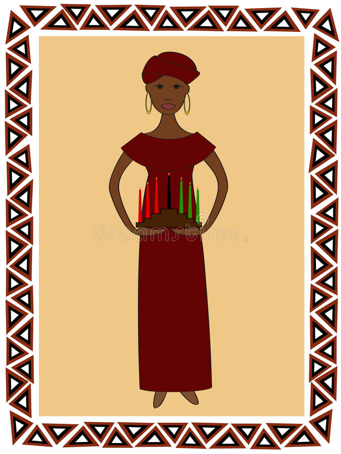 Femme de Kwanzaa illustration libre de droits