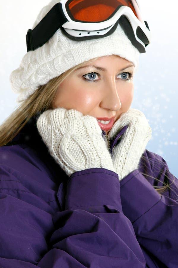 Femme de l'hiver photo stock